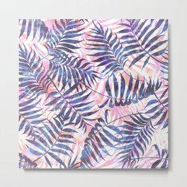 Reeya Tropical {periwinkle} Metal Print