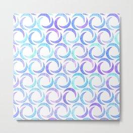 Blue Crescent Metal Print