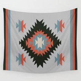 Southwestern Santa Fe Tribal Indian Pattern Wall Tapestry