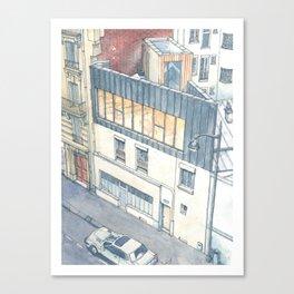 Saganaki House Canvas Print
