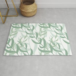 Summer Abstract Seamless Pattern With Colorful Leaves And Plants Rug