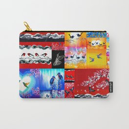mainly red Carry-All Pouch