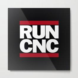 Cnc Run Metal Print