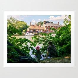 Gone fishing. Art Print