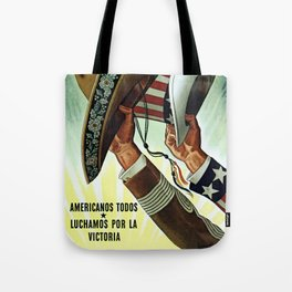 Americans All - Let's Fight for Victory Tote Bag