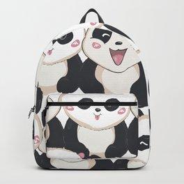 happy panda bears Backpack