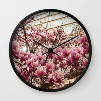 dc Wall Clocks featuring DC Blossoms  by Ashley Hirst Photography