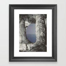 silence and sea Framed Art Print