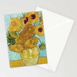 "Vincent van Gogh,"" Vase with Twelve Sunflowers "" Stationery Cards"