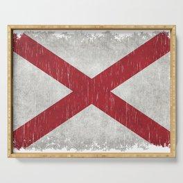 State flag of Alabama - Vintage version Serving Tray