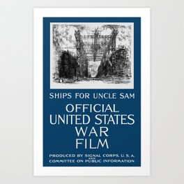 Ships For Uncle Sam -- WWI Art Print