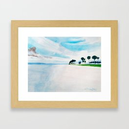 Pristine Florida Watercolor Framed Art Print