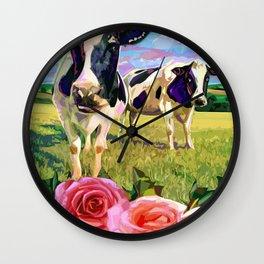 YOU LOOKING AT MOO Wall Clock