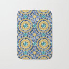 Seamless pattern of gold arabesques. Patterns. Bath Mat