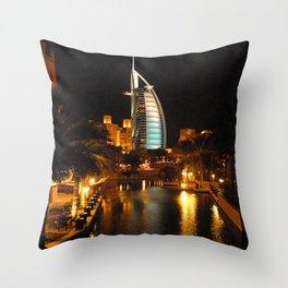 Burj Al Arab Hotel - Dubai Throw Pillow