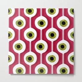 Eye Pod Red Metal Print
