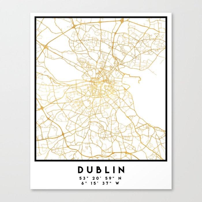 Street Map Of Ireland.Dublin Ireland City Street Map Art Canvas Print By Deificusart