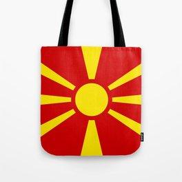 Macedonian national flag Tote Bag