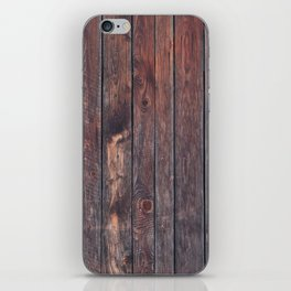 wood texture iPhone Skin