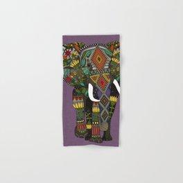 floral elephant violet Hand & Bath Towel