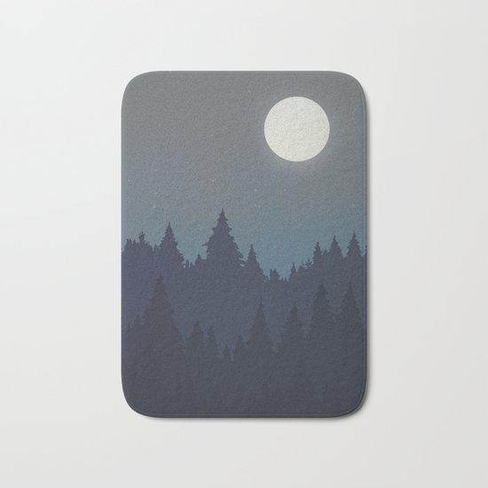 Tree Line - Grey Bath Mat