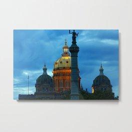 Iowa State Capitol Dome at Night Metal Print