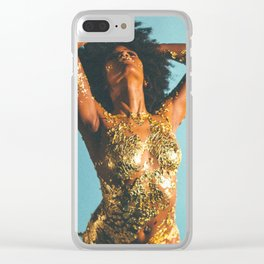 Beauty foster - skin and gold Clear iPhone Case