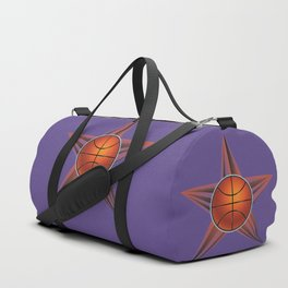 Basketball ball in the star Duffle Bag