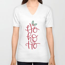 Ho Ho Ho Santa Words Unisex V-Neck