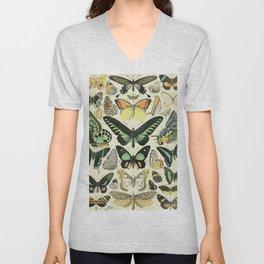 Adolphe Millot Papillons Unisex V-Neck