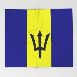 Flag of Barbados Throw Blanket