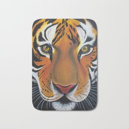 Tiger, acrylic on canvas Bath Mat