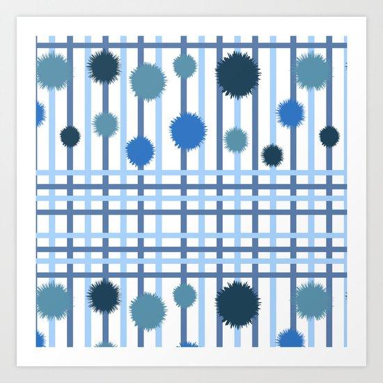 Blue Stripes III Art Print