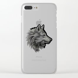 Silver Wolf Clear iPhone Case