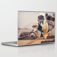 desert Laptop & iPad Skins featuring Fear and Loathing on Tatooine by Anton Marrast
