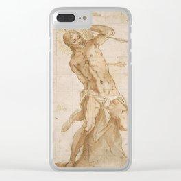 "Tintoretto (Jacopo Robusti) ""Saint Sebastian"" Clear iPhone Case"