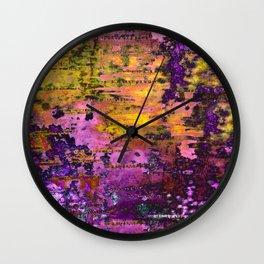 Purpling Wall Clock