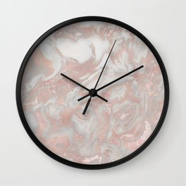 French polished rose gold marble Wall Clock