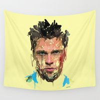 tyler spangler Wall Tapestries featuring Tyler by Marcello Castellani