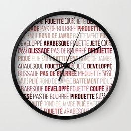 Ballet vocabulary Wall Clock
