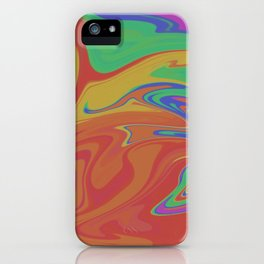 Paper Marbling 1 iPhone Case