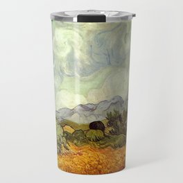 Vincent van Gogh's Wheat Field with Cypresses Travel Mug