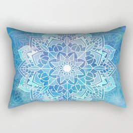 Mandala blue Rectangular Pillow