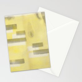 Stasis Gray & Gold 1 Stationery Cards
