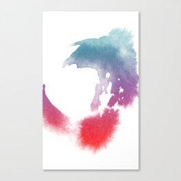 Watercolor Splashes Canvas Print