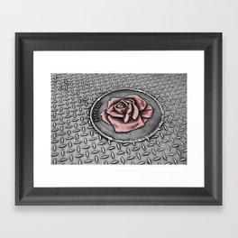 The rose beneith my feet Framed Art Print