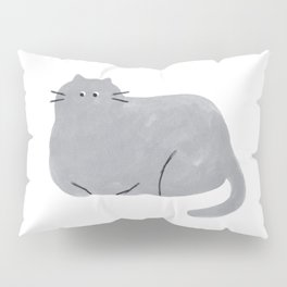 Blue Cat Pillow Sham