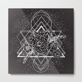 Infinite Space Triangles Metal Print
