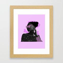 Rock Star Glitter Collage Framed Art Print