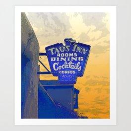 Taos Inn Sign  Art Print